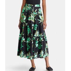Lauren Ralph Lauren women's leaf print midi skirt
